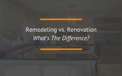 Remodeling and Renovation: What's The Difference?